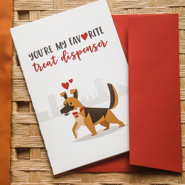 Treat Dispenser - Greeting Card