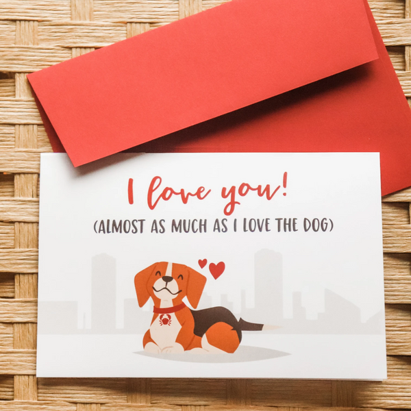 Love the Dog - Greeting Card