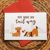 Tail Wag - Greeting Card