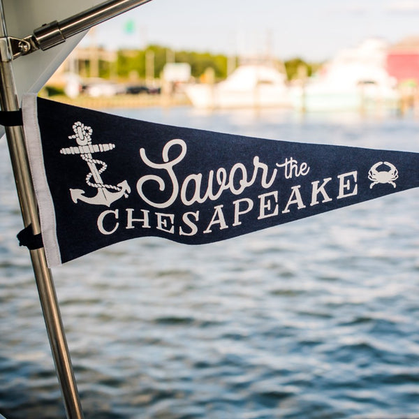 Savor the Chesapeake Pennant
