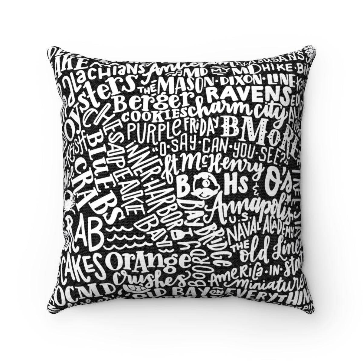 Bmore Wordy - Accent Pillow