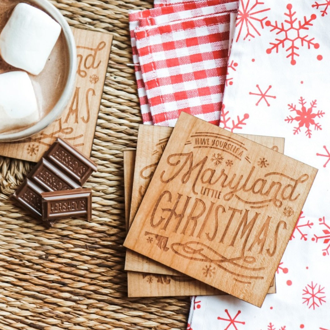 MD Little Christmas - Wooden Coasters