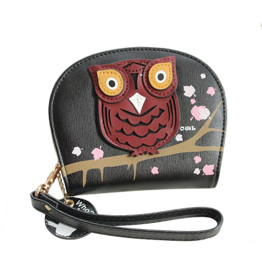 Multi Functional Silicone Pouch Wallet with Owl Decoration - Owl Gifts Shop