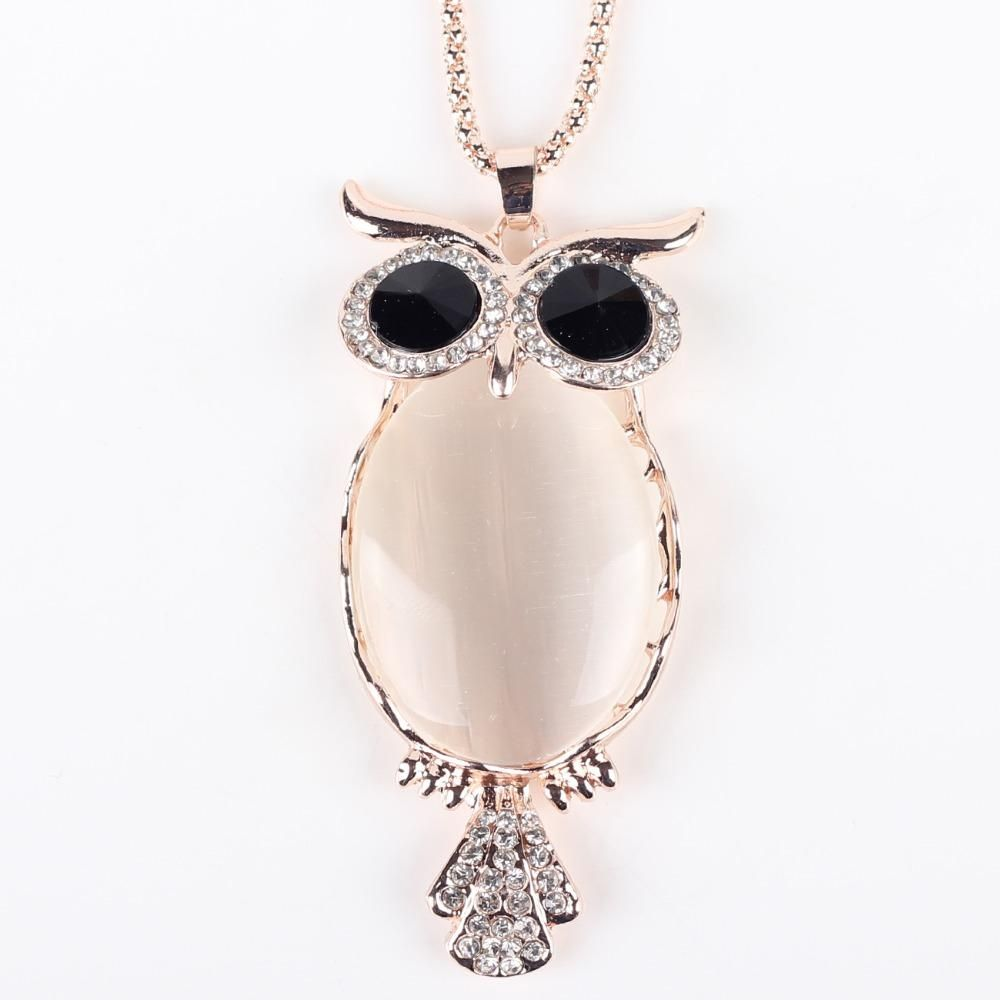 Owl Pendant Zinc Alloy Necklace for Women - Owl Gifts Shop