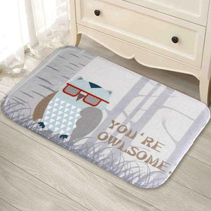 Owl Printed Carpet, Non-slip Doormat - Owl Gifts Shop