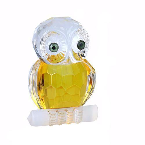 Glass Crystal Cut Owl Figurines Ornament, Paperweight, Souvenir - Owl Gifts Shop