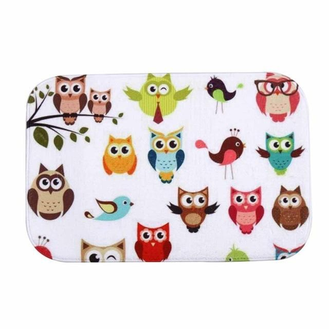 Colorful Owls Front Door Mat - Owl Gifts Shop