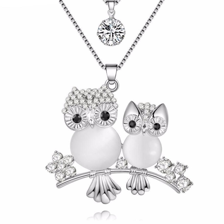 Crystal Owl Choker Necklace for Girls - Owl Gifts Shop