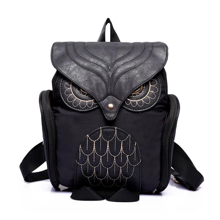 Women's Owl PU Leather Backpack - Owl Gifts Shop