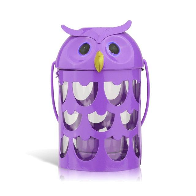 Owl candle holder 6 color Hurricane lamp - Owl Gifts Shop