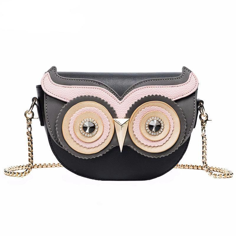 Owl Shape Elegant Shoulder Bag made of PU Leather - Owl Gifts Shop