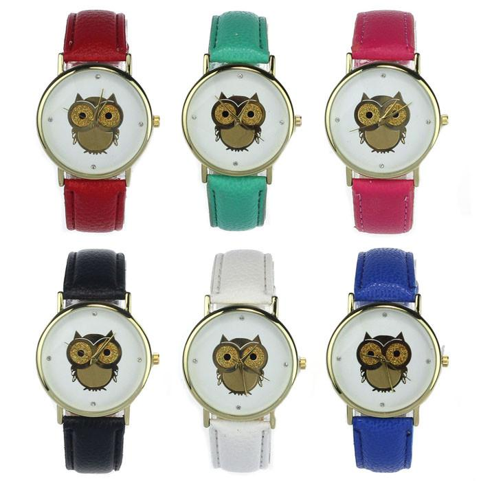 Owl Wrist Quartz Watch with PU Leather Band - Owl Gifts Shop