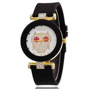 Elegant Crystal Watch for Women with Golden Owl Pattern - Owl Gifts Shop