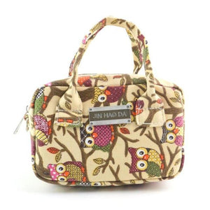 Owl Pattern Hand Bag with Zipper Closure - Owl Gifts Shop
