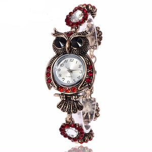 Elegant Vintage Stainless Steel Quartz Owl shaped Wrist Watch for Women - Owl Gifts Shop