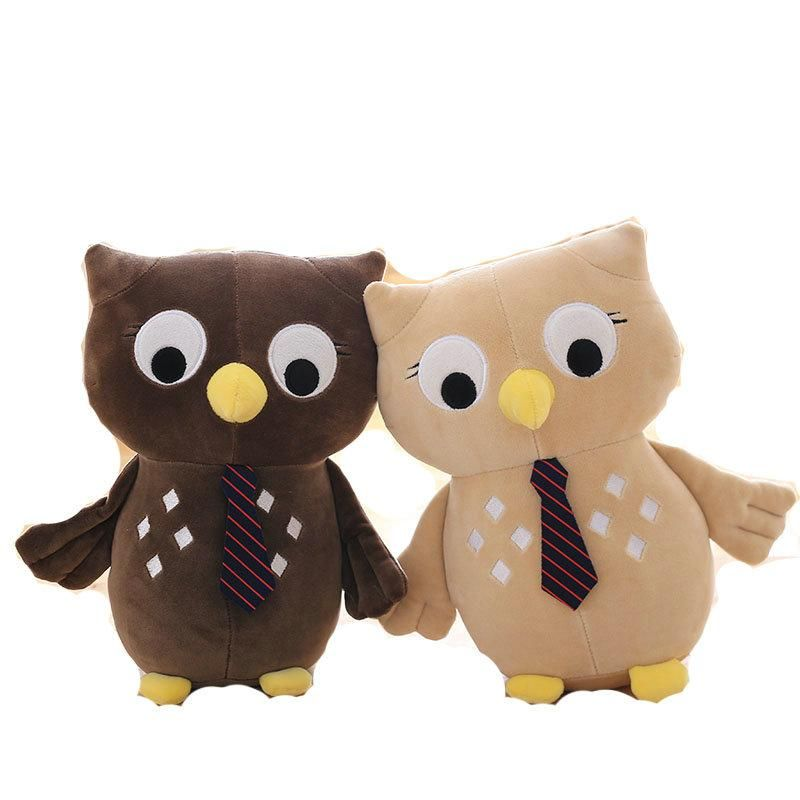 Stuffed Cotton owl toys with Tie - Owl Gifts Shop