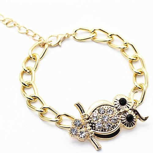 Women's Adjustable Owl Charm Bracelet - Owl Gifts Shop
