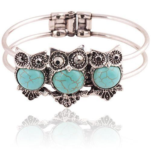 Bohemian Style Girls Bracelet with Owl Decortaion