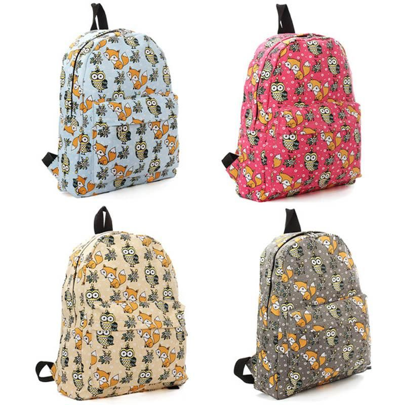 Owl & Fox Backpack, Fashionable School Bag - Owl Gifts Shop