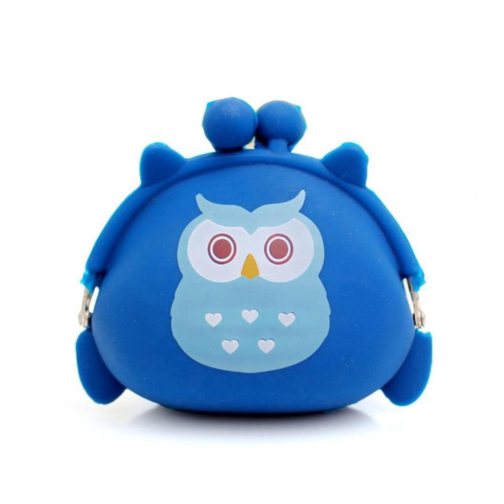 Cartoon Owl Silicone Coin Bag for Kids