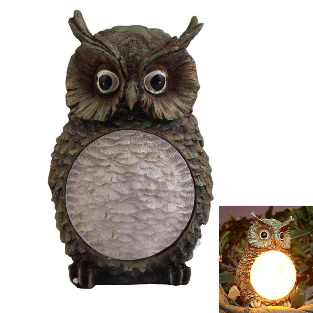 Solar Power Outdoor Owl Figurine Lamp - Owl Gifts Shop