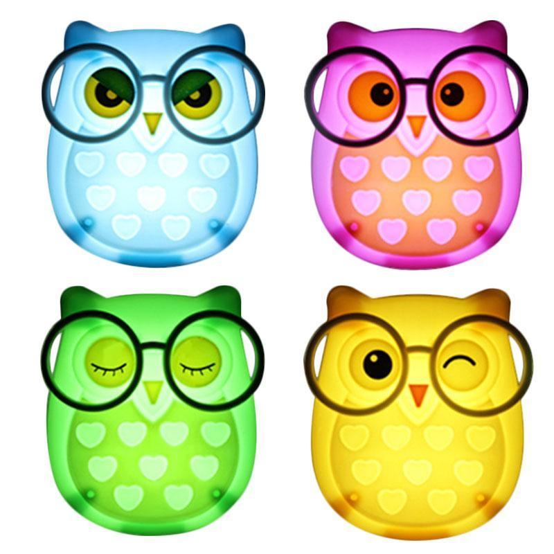 Owl Led Night Lamp with Touch Control Sensor