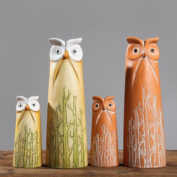 Nordic Style Ceramic Owl Figurine - Owl Gifts Shop