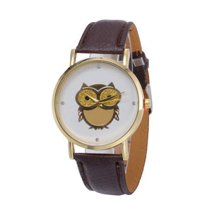 Owl Pattern Wrist Quartz Watch For Ladies - Owl Gifts Shop