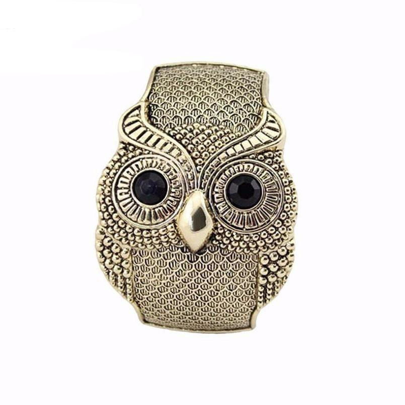 Vintage Style Bracelet with Large Crystal Owl's Eyes - Owl Gifts Shop