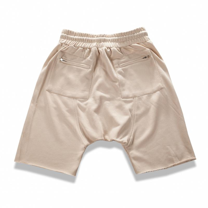 SIDE ZIP SHORTS - KHAKI