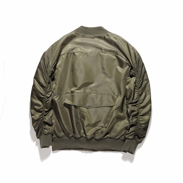 INNER ZIPPED BOMBER JACKET - GREEN BACK