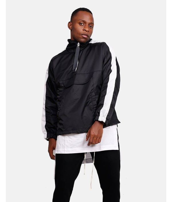RETRO SPORTS JACKET - BLACK / WHITE
