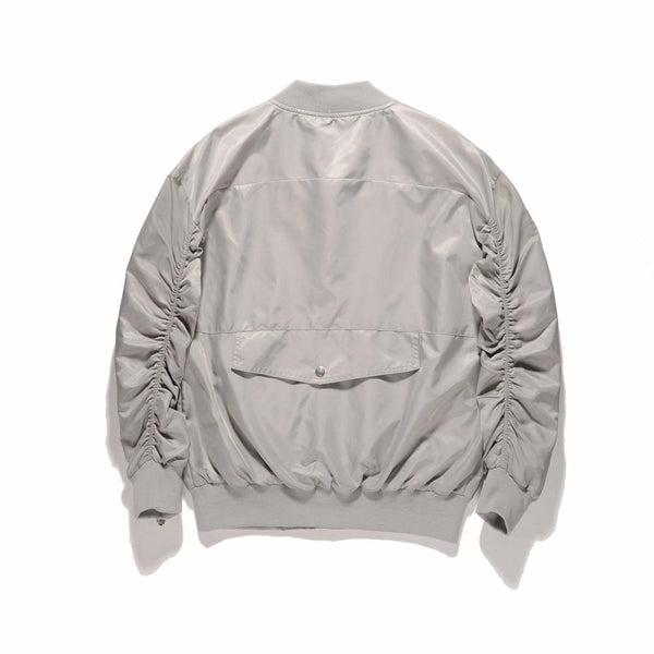 INNER ZIPPED BOMBER JACKET - SILVER BACK