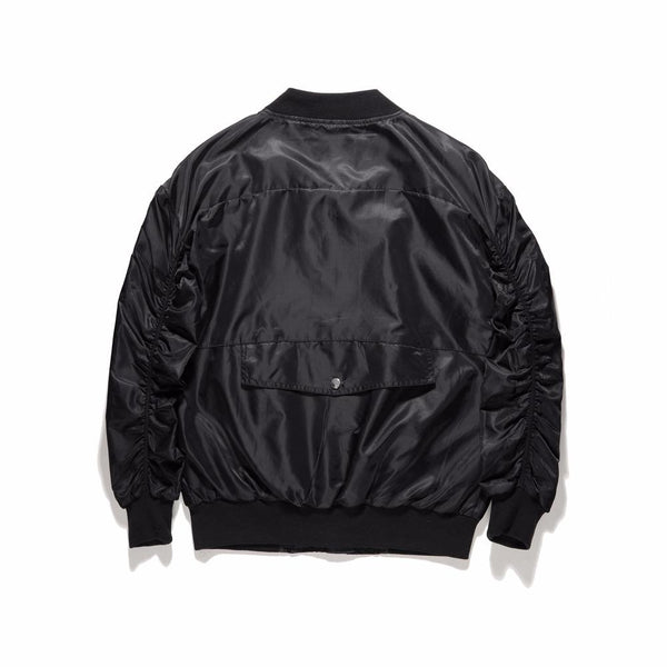 INNER ZIPPED BOMBER JACKET - BLACK BACK