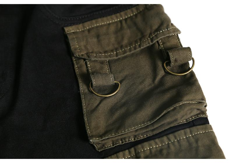 CARGO STRAPPED PANTS - BLACK