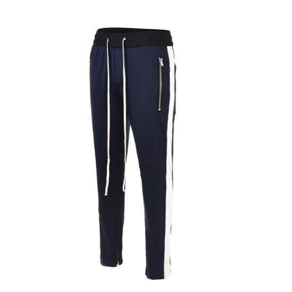RETRO PANTS - NAVY with white stipes
