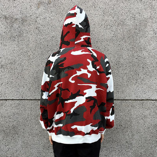 ESSENTIAL CAMO HOODIE - RED