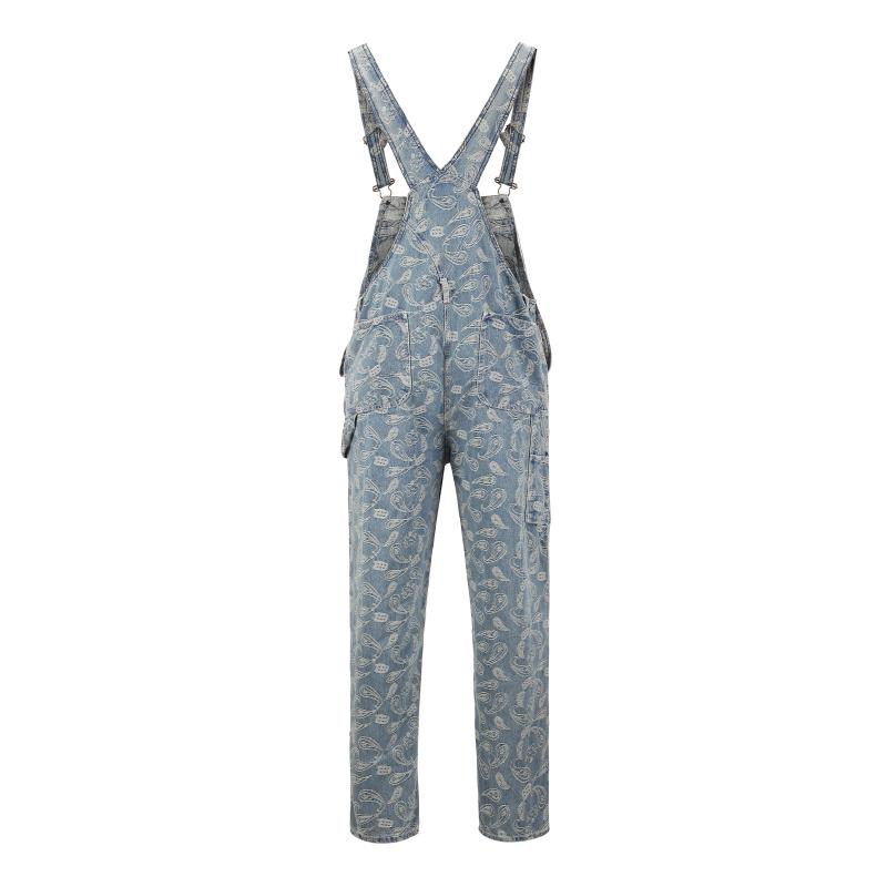 FLOWER JACQUARD DUNGAREES