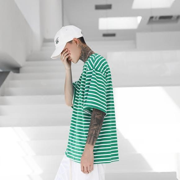 GREEN STRIPES TEE