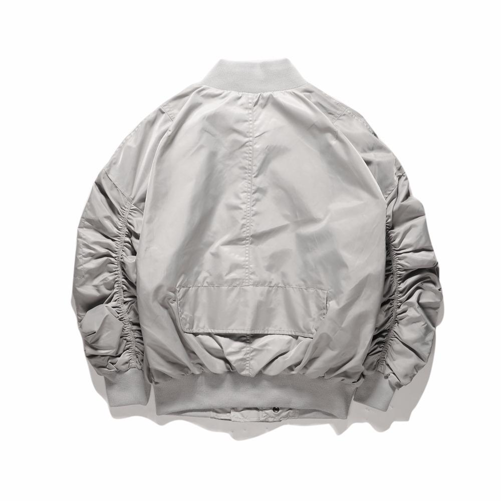 ESSENTIAL BOMBER JACKET - SILVER