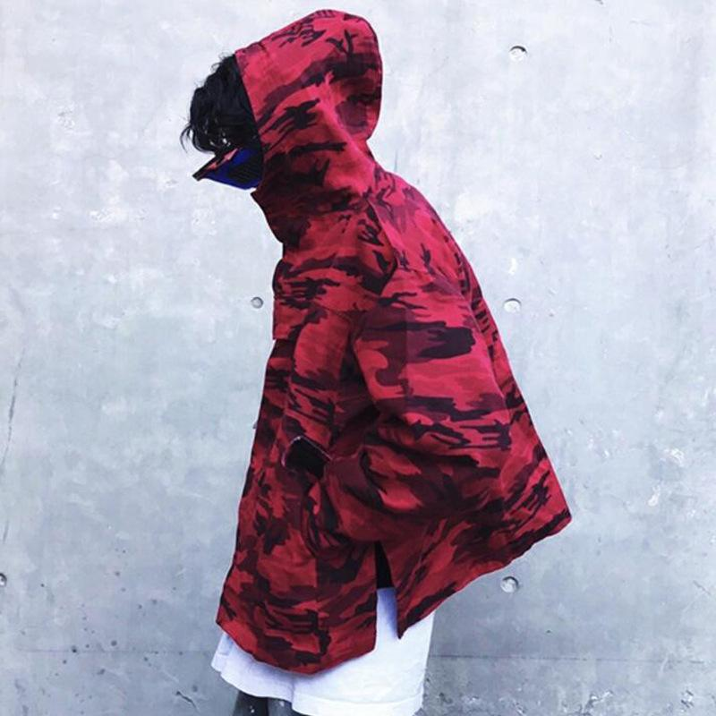 ESSENTIAL CAMO WINDBREAKER - RED STREETFASHION