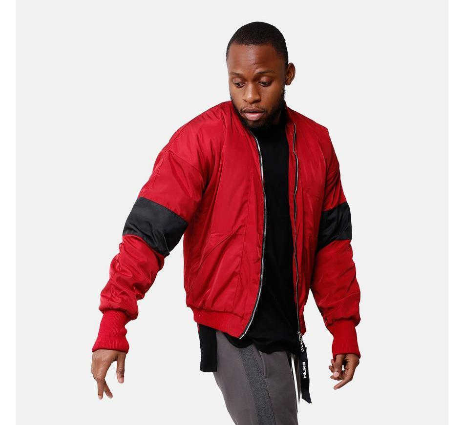 VDOPE ZIP BOMBER - RED/BLACK