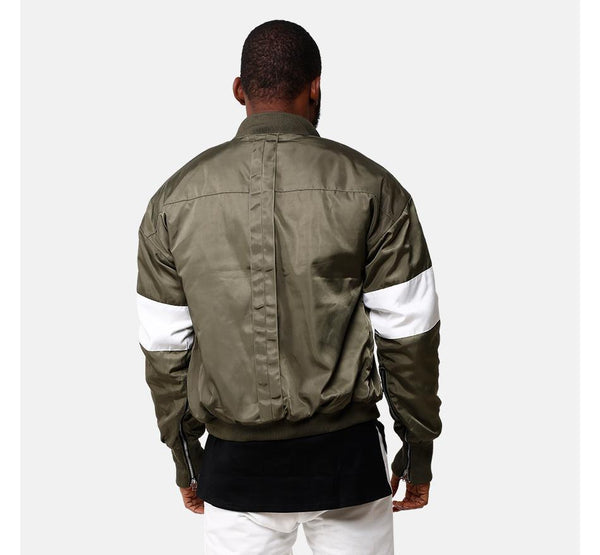 VDOPE ZIP BOMBER - GREEN/WHITE