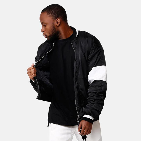 VDOPE ZIP BOMBER - BLACK/WHITE STREETFASHION