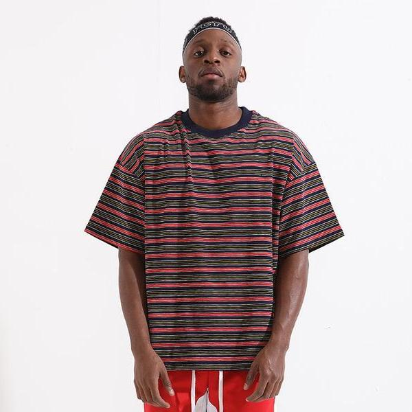 COLORED STRIPE TEE