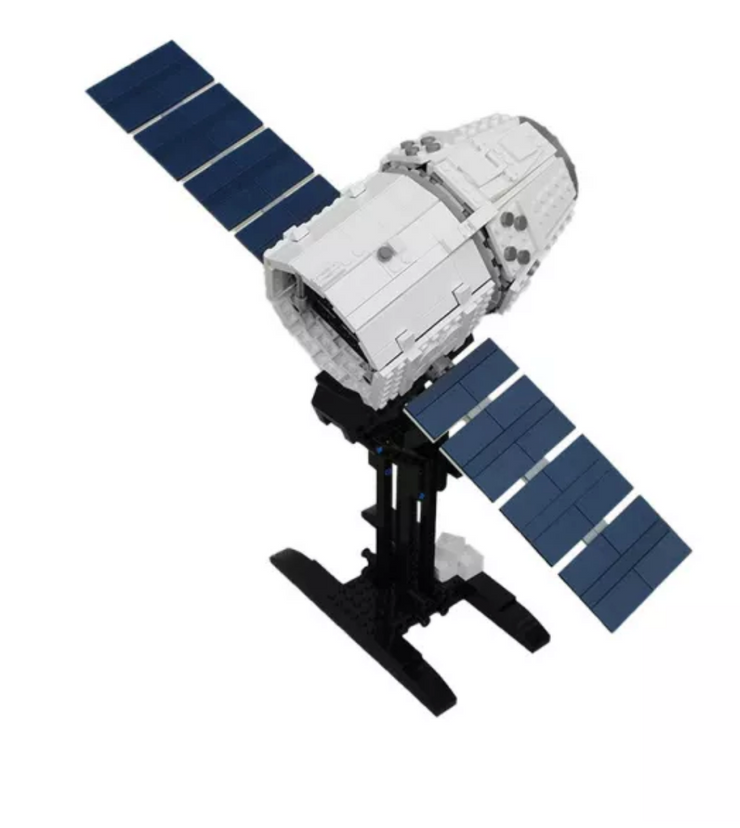 Dragon Unmanned Resupply Spacecraft 817pcs