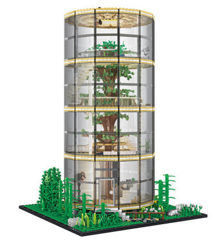 Glass Dome Tree House 3495pcs