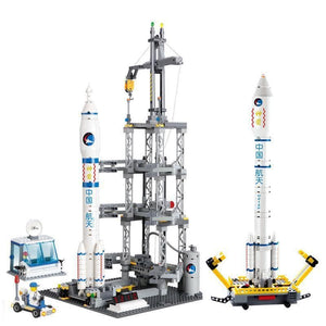 CZ-2F Space Rocket Launch Station 822pcs