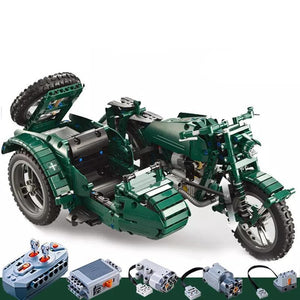 Remote Controlled Sidecar Motorcycle 629pcs
