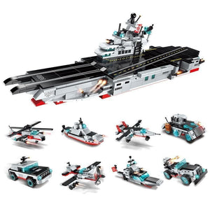 Military Warship & Vehicles 8in1